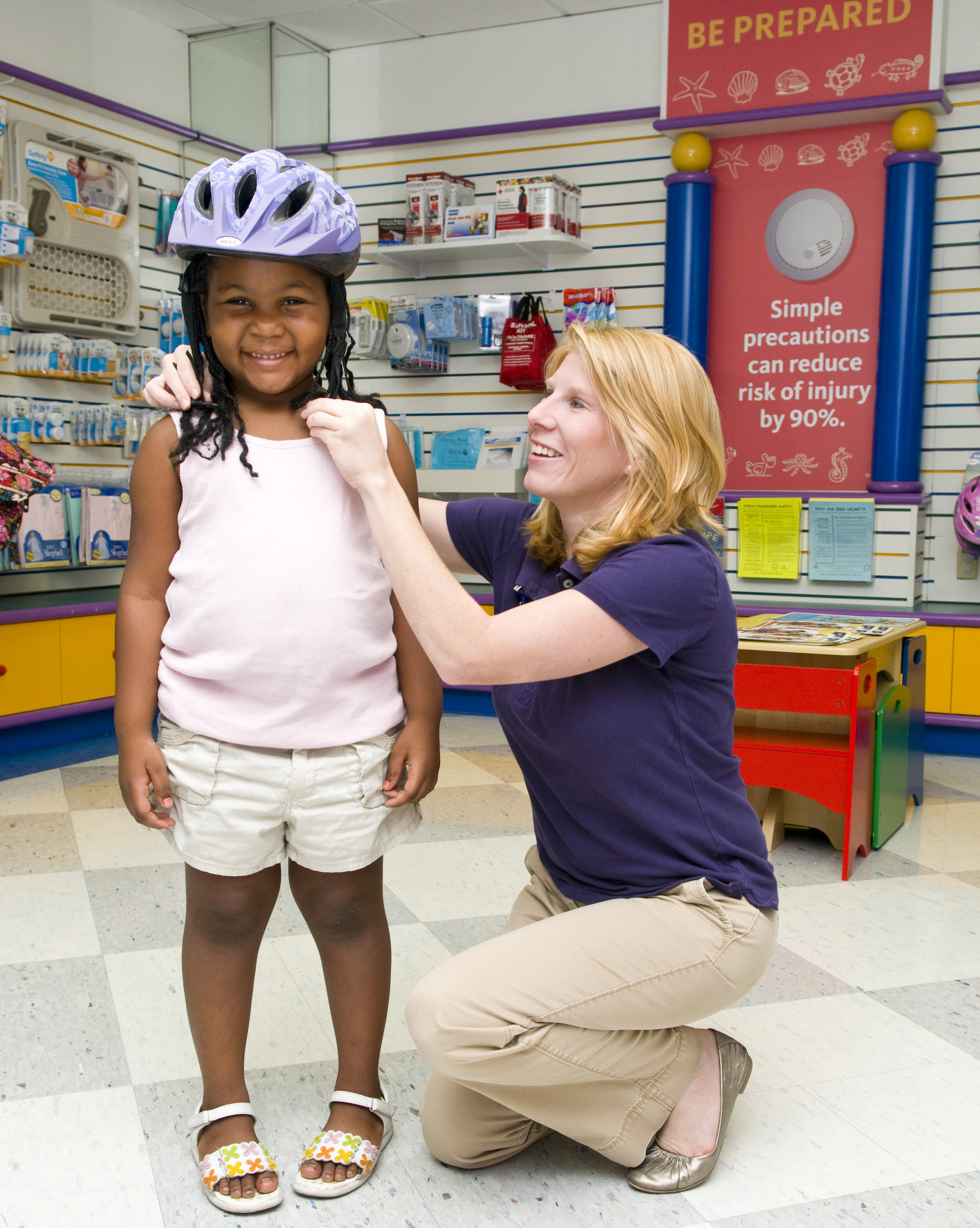 Rebecca Layton, a pediatric wellness and safety expert at St. Joseph's Children's Hospital in Tampa, reminds gift-givers to include a helmet when shopping for bikes, scooters, skateboards and other wheeled activities this holiday season. Wearing a helmet can reduce the risk of head injury by as much as 85 percent and the risk of brain injury as much as 88 percent.