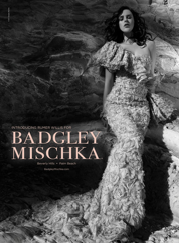 Badgley Mischka unveils its spring 2011 marketing campaign featuring actress Rumer Willis. The campaign was shot by Tony Duran on a beautiful beach in Malibu, CA and will debut in March issues of fashion and lifestyle magazines such as Vogue, InStyle, Harper's Bazaar as well as online at www.badgleymischka.com and outdoor.  (PRNewsFoto/Iconix Brand Group, Inc.)