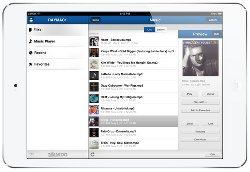 Tonido - The Best File Access, Music and Video Streaming App for your iPad and iPhone. (PRNewsFoto/CodeLathe) ...