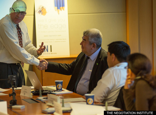 Turkmenistan delegation goes through negotiation certification program at The Negotiation Institute in the US (PRNewsFoto/The Negotiation Institute)