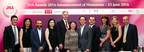 (From left) Zheng Liu of Guangdong Land Holdings; Caroline Yuan of Shanghai Diamond Exchange; Naresh Surana of Diarough Group; Rita Maltez of Rio Tinto Diamonds; Wolfram Diener of UBM Asia; Letitia Chow of UBM Asia; Kent Wong of Chow Tai Fook Jewellery Group; Jime Essink of UBM Asia; Mariaveronica Favoroso of Gemfields; Noa Pardo of Israel Diamond Institute Group of Companies; and Jim Li of Guangdong Gems & Jade Exchange