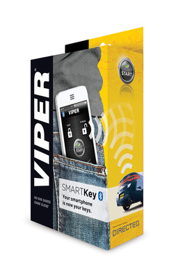 VIPER LAUNCHES VIPER SMARTKEY, PROVIDING HANDS-FREE, KEYLESS VEHICLE ENTRY AND EXIT FROM YOUR SMARTPHONE. (PRNewsFoto/Viper) (PRNewsFoto/VIPER)