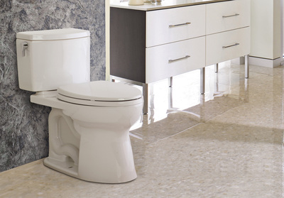 TOTO is the first plumbing manufacturer to validate its products' environmental performance with new Sustainable Minds' Transparency Reports. The company's Drake II 1G is one of its first ultra-high efficiency toilets for which a new SM Transparency Report has been developed.  (PRNewsFoto/TOTO USA)