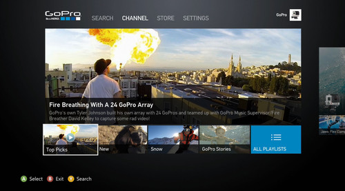 GoPro announces Channel for Xbox 360 and Xbox One(R). (PRNewsFoto/GOPRO)