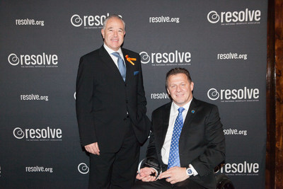 Paralyzed Veterans of America National President Al Kovach, Jr. (right) with Mark Segal, CEO, Shady Grove Fertility at RESOLVE's Night of Hope Gala, November 15, 2016