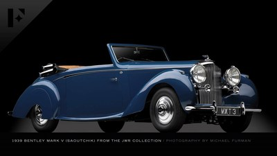 This 1939 Bentley Mark V 4.25 Litre from the JWR collection is up for bid in the June 11 Elegance at Hershey auction presented by The Finest Automobile Auctions. Bid online on Proxibid.