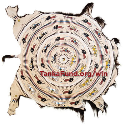 Tanka Fund gives all Americans a chance to be part of a historic campaign to return buffalo to Native lands, lives and economies. The charity's free sweepstakes to win this authentic hand-painted buffalo hide ends January 31, 2016!