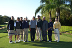 "From left to right: David Abrams, Howard Slavin, Chad Kurmel, Jim Fazio, Roger Pressman, Morgan Brown, Emerson ""Chuck"" Lehner, Jack Daughty & Fidel Garcia.  (PRNewsFoto/Boca Grove Golf & Tennis Club)"