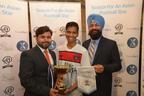 TradeNext CEO Mohsin Jameel and TradeNext co-founder JagJeet Singh with Raj Vijayarajah.