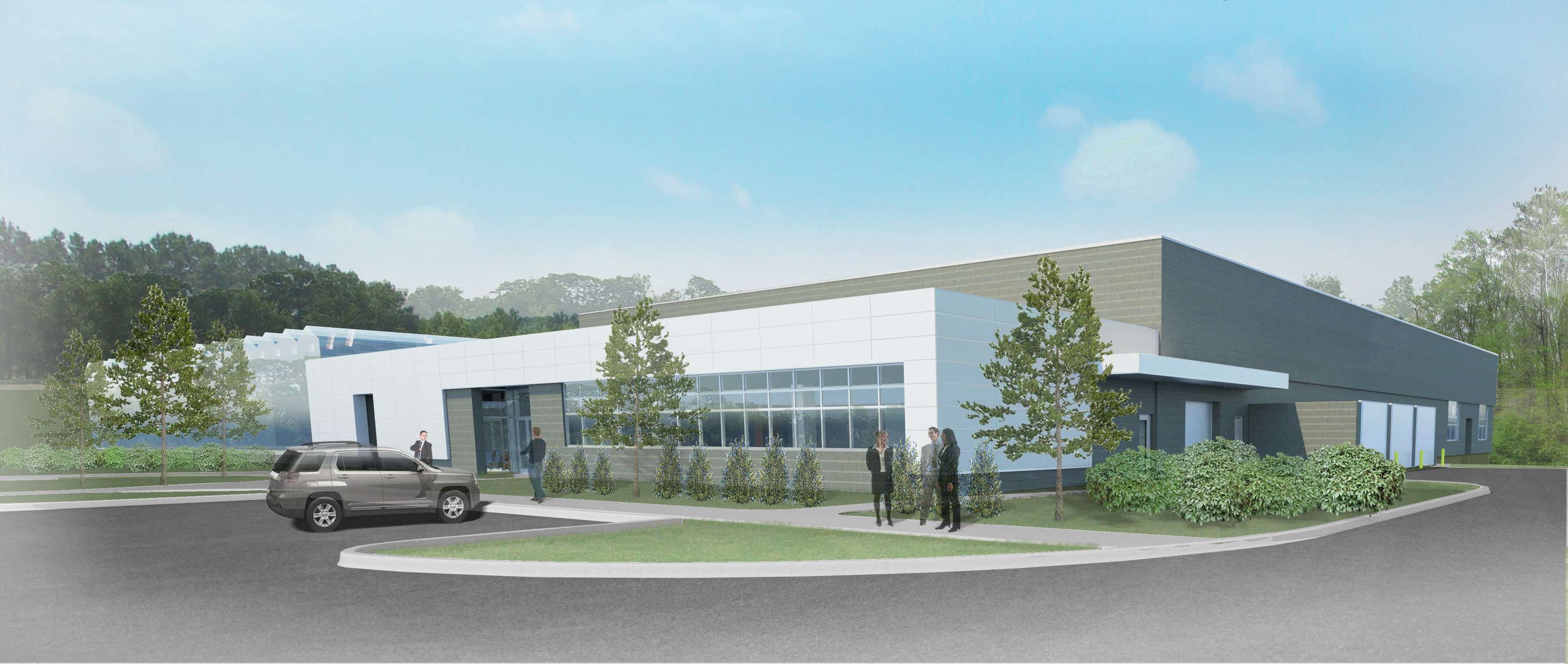 Architectural rendering of Greenhouse 6, the third in a trio of new, state-of-the-art facilities at the Bayer CropScience Research Triangle Park headquarters. Greenhouse 6 will increase Bayer's capabilities to analyze and develop crops, and find novel seeds and traits that will ultimately lead to solving farmers' greatest challenges.