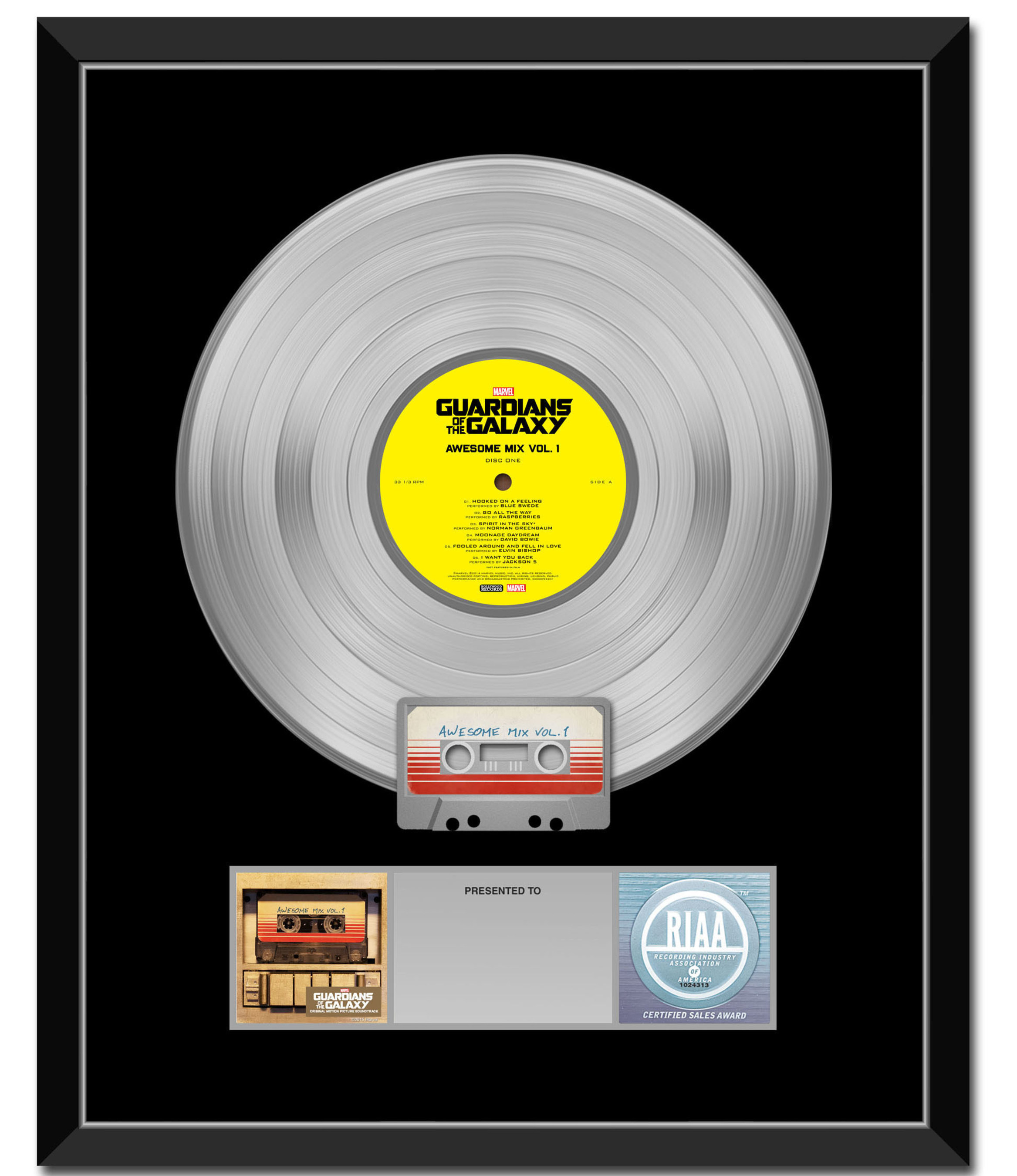 Marvel's Guardians Of The Galaxy Awesome Mix Vol. 1 Soundtrack Is Certified Platinum