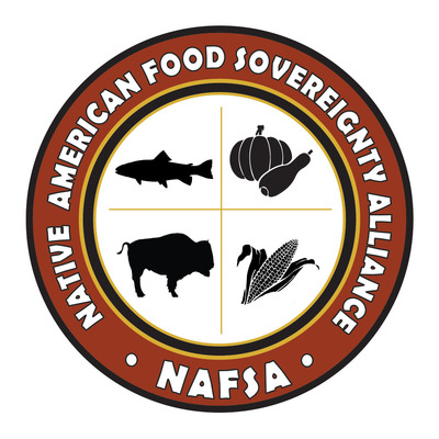 New logo of the new Native American Food Sovereignty Alliance (NAFSA) that has been formed by First Nations Development Institute to address food-system control, health, nutrition and economic development in American Indian, Alaska Native and Native Hawaiian communities. (PRNewsFoto/First Nations Development Institute) (PRNewsFoto/FIRST NATIONS DEVELOPMENT INS...)