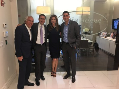 Kathy Ireland, kiWW's CEO & Chief Designer with (from left to right) Morris Hanan, Abe Hanan and Joey Hanan of PPI Apparel Group