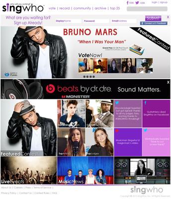 www.singwho.com Homepage.  (PRNewsFoto/SingWho)