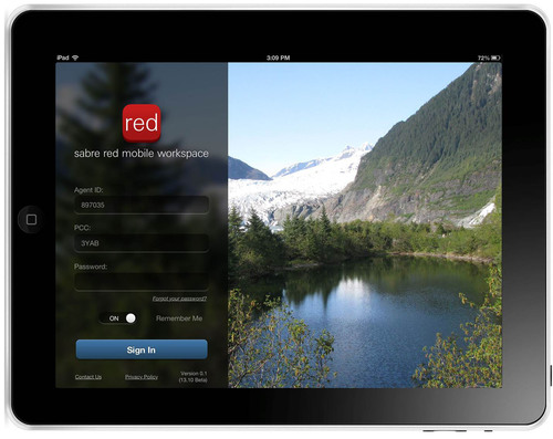 iPad Sabre Red Mobile Workspace.  (PRNewsFoto/Sabre)
