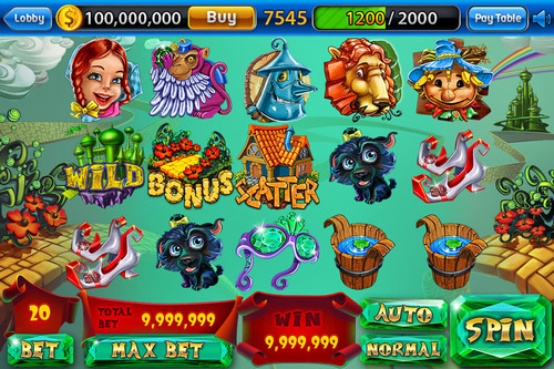 Win Launches free-to-play video game SLOTS CRAZE that includes the thrilling slots-game Back to Oz exclusively for iOS and Facebook. (PRNewsFoto/Win) (PRNewsFoto/WIN)