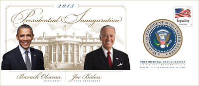 Preserve a piece of history. The Postal Service is producing an Official Commemorative Souvenir Envelope to celebrate the second inauguration of President Barack Obama and Vice President Joe Biden.  The Inauguration Day Official Commemorative Souvenir Envelope sells for $9.95 and can be ordered at this link (https://store.usps.com/store/browse/productDetailSingleSku.jsp?productId=S_788721&categoryId=subcatC_PP_StampCachets) or at 800-STAMP24 (800-782-6724) using item #788721. Preorders are being accepted now for delivery shortly after the Jan. 21 Inauguration. The souvenir envelope will also be sold at select Post Offices beginning Jan. 21.  (PRNewsFoto/U.S. Postal Service)
