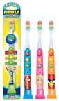"""""""Driving"""" healthy oral care habits for kids, the FireFly Ready Go Brush(TM) comes in FireFly, Marvel's Spider-Man, Barbie(TM), and Angry Birds light-up timer models. They are ADA Accepted and available at Target, Kroger and Meijer stores. www.fireflytoothbrush.com. (PRNewsFoto/Dr. Fresh LLC) (PRNewsFoto/DR. FRESH LLC)"""