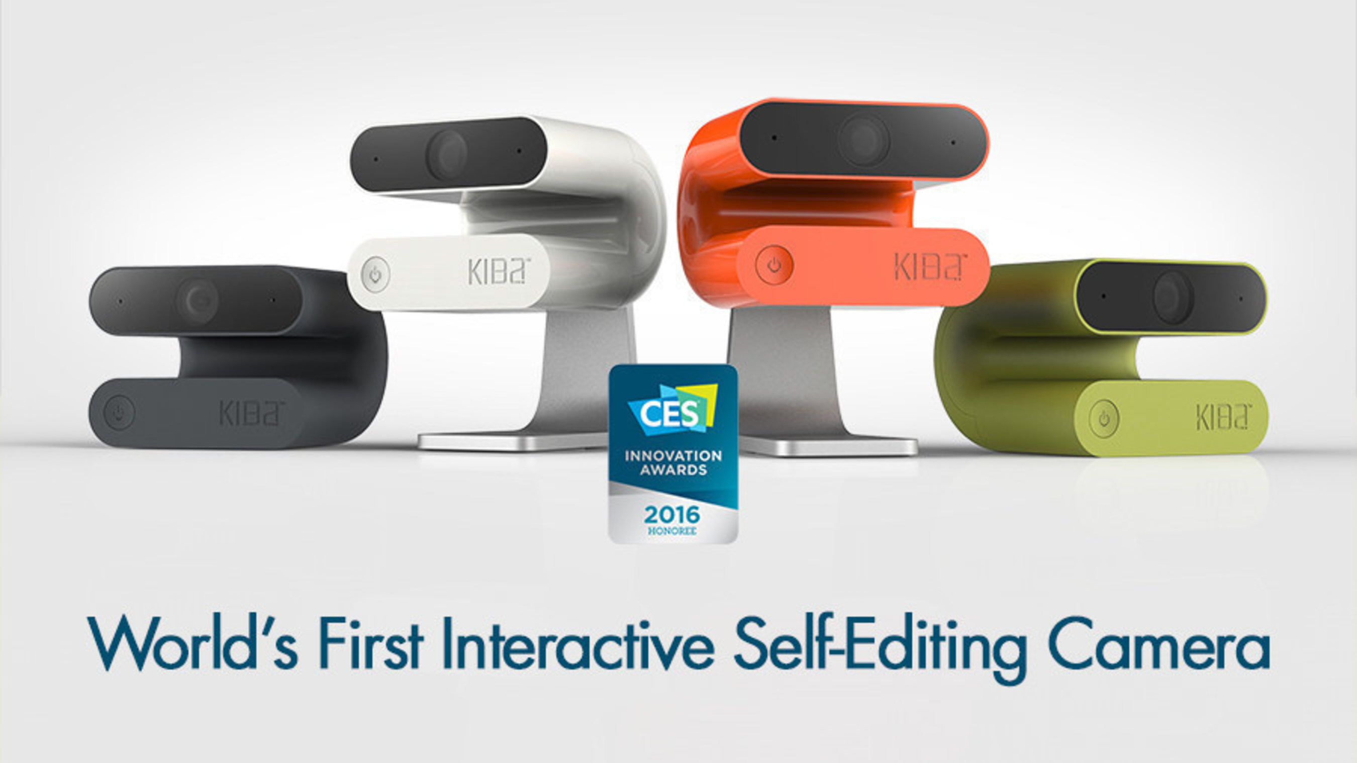 "Kiba is world's first interactive self‐editing video camera. Winner of two CES 2016 Innovation awards, Kiba allows users to enjoy their best moments with friends and family. It uses intelligent, patented ""joy ranking"" technology to capture and curate footage, providing users with beautifully edited, easily shareable video clips. Kiba responds to voice commands like ""Kiba, selfie,"" ""Kiba, record,"" or ""Kiba, remember.""  Go to http://getkiba.com to learn more or order now!"