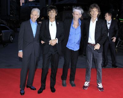 """The Rolling Stones attend the premiere of """"Crossfire Hurricane"""" during the 56th BFI London Film Festival at Odeon Leicester Square on October 18th, 2012. Photo by Invision."""