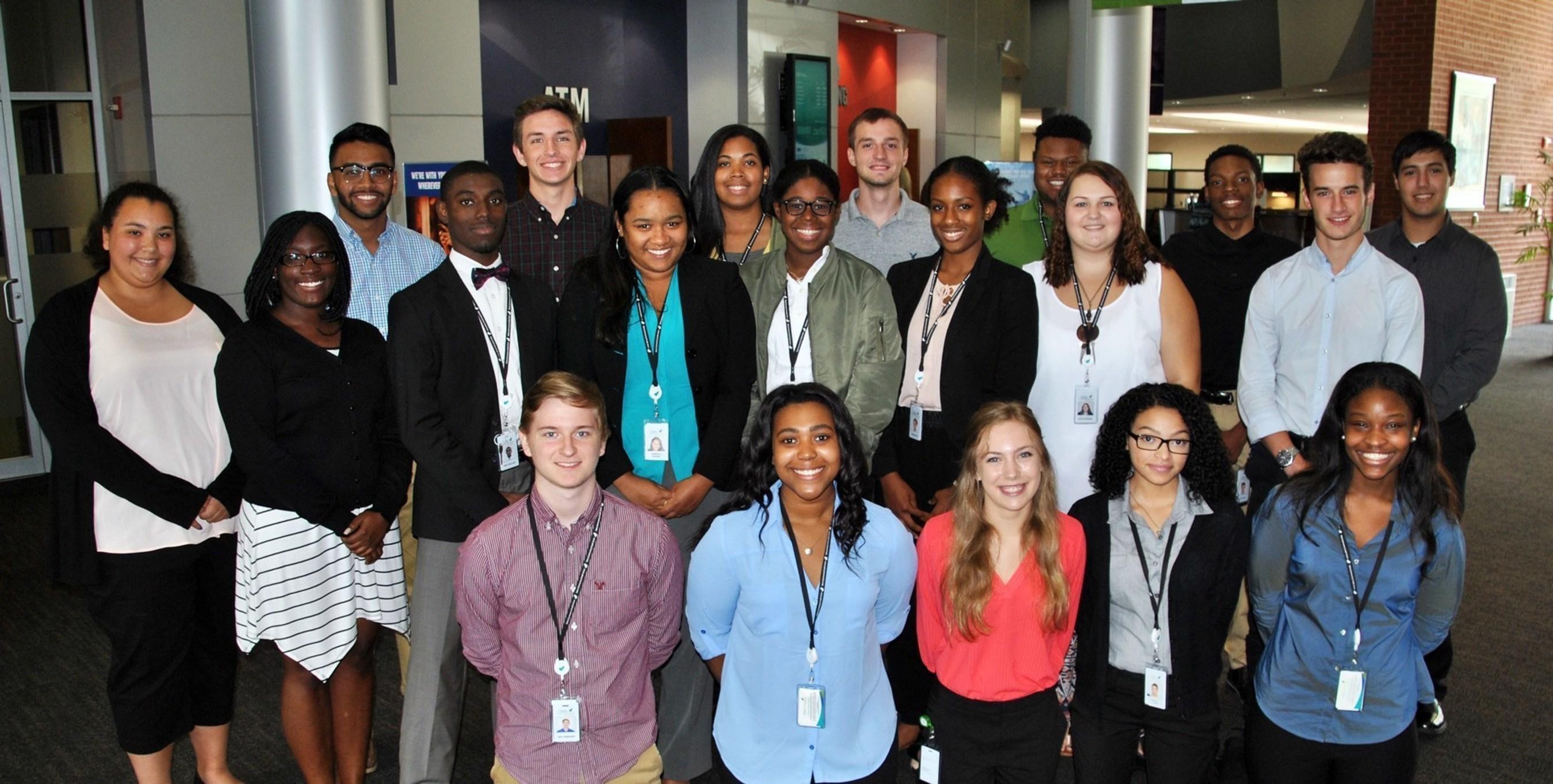 Delta Community High School Apprentice Program participants at the Credit Union's Virginia Avenue Branch.