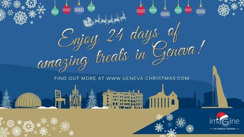 To celebrate the arrival of the season, Geneva Tourism has collaborated with 24 well-known Genevan partners to launch the Great Christmas Giveaway with the total gift value exceeding Pounds Sterling33,000 / euro48,000 (PRNewsFoto/Geneva Tourism) (PRNewsFoto/Geneva Tourism)