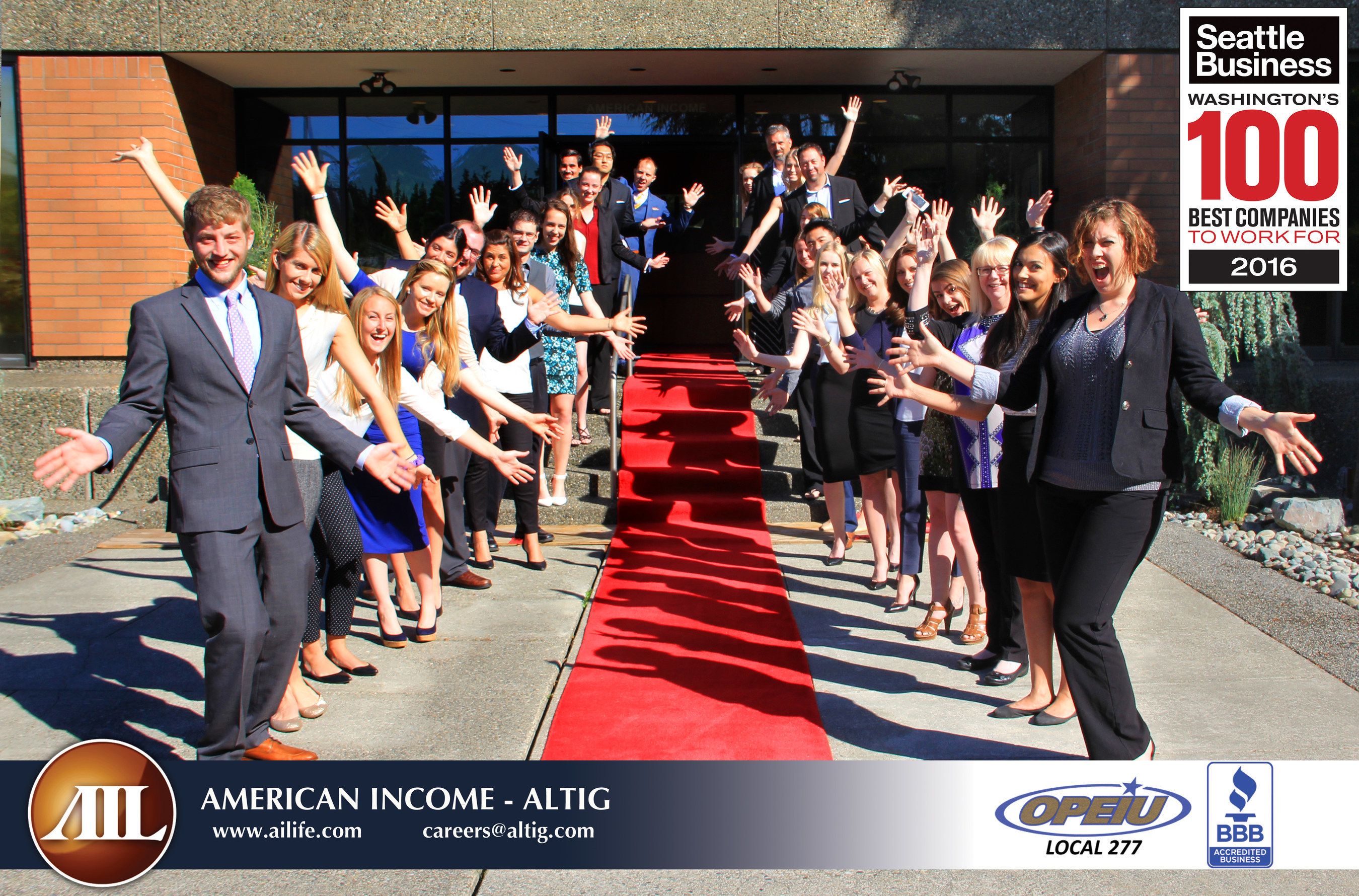 American Income-Altig Named #2 Best Place to Work for in 2016 by Seattle Business Magazine