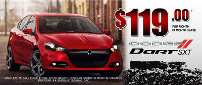 Medved Autoplex is offering its customers a fantastic chance to lease a 2013 Dodge Dart SXT for less than $120 per month with a special offer.  (PRNewsFoto/Medved Autoplex)