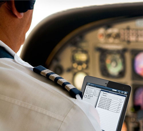 Optimized for touch screens, the TechSight/X iPad Application for Flight Operations notifies pilots of new information, prompts them to acknowledge updates to meet regulatory requirements, lets them easily drill down into documents they have flagged as favorites, add annotations, send notes to authors, and more.  (PRNewsFoto/InfoTrust Group)