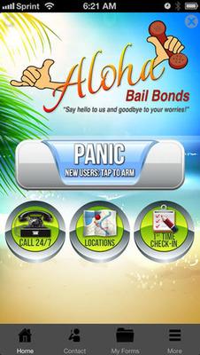 Aloha Bail Bonds Mobile App. (PRNewsFoto/Aloha Bail Bonds) (PRNewsFoto/ALOHA BAIL BONDS)