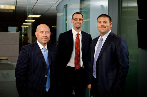 Advisors Excel co-founders (from left to right) Cody Foster, David Callanan and Derek Thompson.  ...