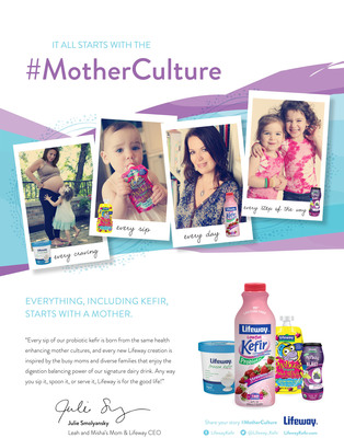 Lifeway Foods Debuts National #MotherCulture Ad Campaign for Kefir Products (PRNewsFoto/Lifeway Foods)