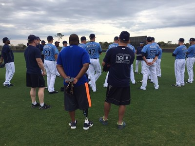 Wounded Warrior Project takes injured veterans to join the Tampa Bay Rays at Spring Training.
