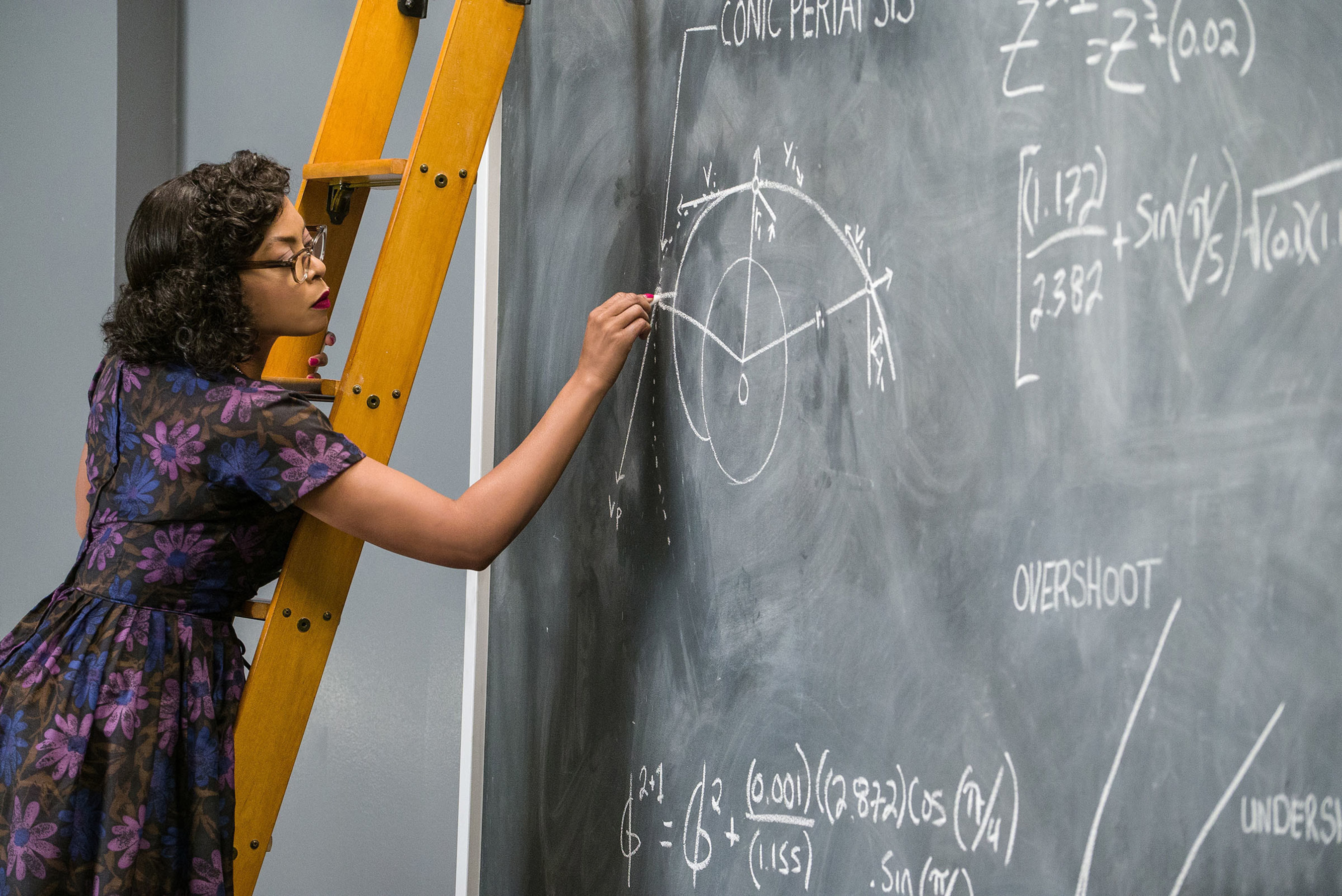 """Taraji P. Henson plays Katherine Coleman Goble Johnson, American physicist, space scientist, and mathematician in """"Hidden Figures."""""""