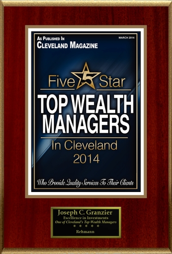 """Joseph C. Granzier Selected For """"Top Wealth Managers In Cleveland"""" (PRNewsFoto/American Registry)"""