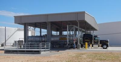 Truck loading on-site.  (PRNewsFoto/OCI Partners LP)