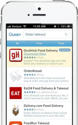 Quixey Sponsored Apps Program.  (PRNewsFoto/Quixey)