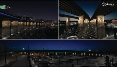 Infografias de la iluminacion del Puente Francis Case Memorial - Primavera 2015.