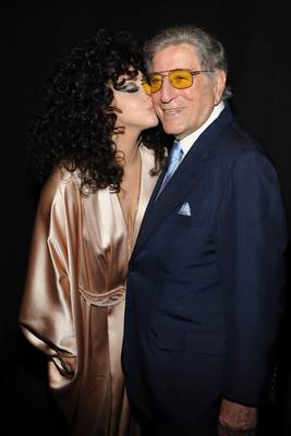 Tony Bennett And Lady Gaga Make Surprise Appearance At Frank Sinatra School Of The Arts On The Last Day Of School. (PRNewsFoto/Interscope Records)