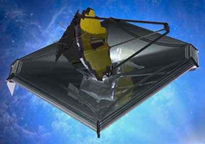 August 2013 James Webb Space Telescope Mural Image, Artist's Impression. Credit: Northrop Grumman Corporation.  (PRNewsFoto/Vanguard Space Technologies)