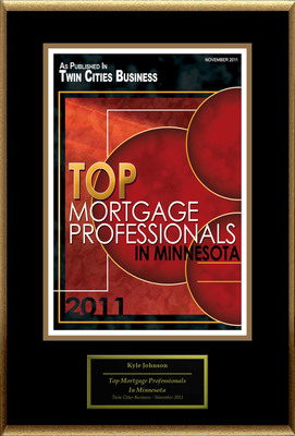 "Kyle Johnson Selected For ""Top Mortgage Professionals In Minnesota.""  (PRNewsFoto/American Registry)"