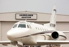 Sabreliner business jet parked outside hangar in Perryville, MO (PRNewsFoto/Innovative Capital Holdings)