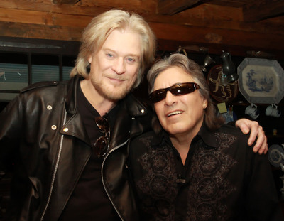 Daryl Hall with Jose Feliciano on set at Live From Daryl's House.  (PRNewsFoto/Daryl Hall)