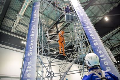 IKAR Fall Arrest & Rescue Demo Zone at Safety & Health Expo, London ExCeL, Jun 17-19, 2014 (PRNewsFoto/UBM Live)