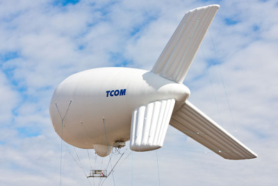 New 12M Highly-Compact Aerostat Specially Suited for Warfighter, Homeland Security & First Responder Needs. (PRNewsFoto/TCOM)