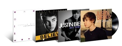 JUSTIN BIEBER'S FIRST FOUR ALBUMS MAKE THEIR VINYL DEBUTS SLATED FOR FEBRUARY 12th RELEASE