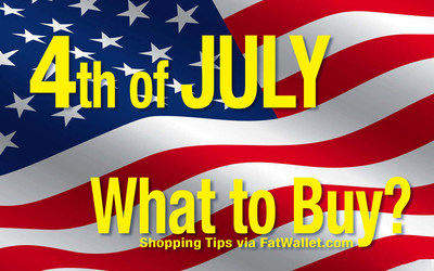 Buy or Wait? FatWallet offers smart shopping tips for finding the best savings during summer's big 4th of July sales events.
