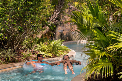 Relax on the lazy river or at the Oasis adult-only pool.