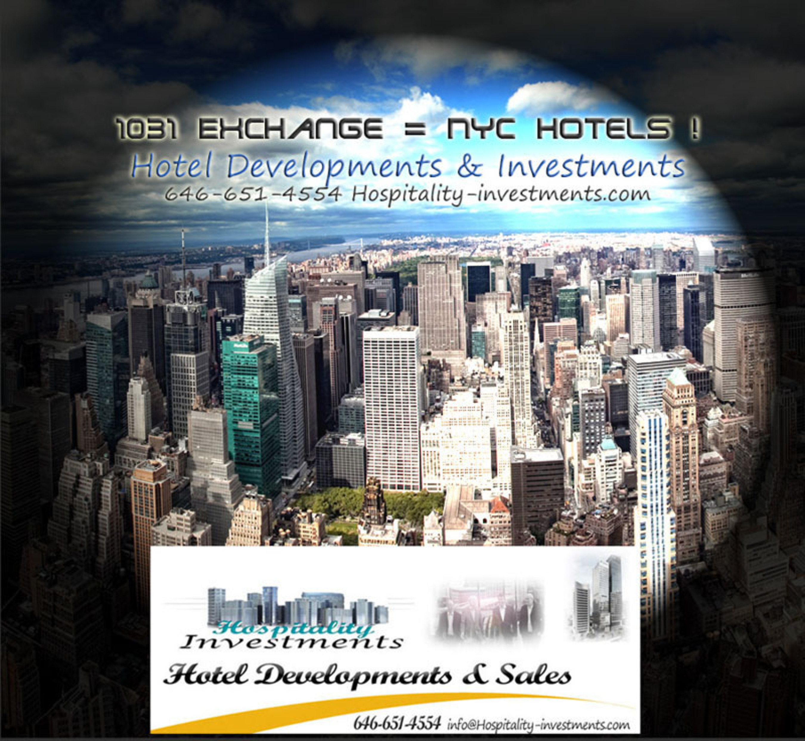 Hotel Developments in NYC.  (PRNewsFoto/Hospitality Investments and Developments)