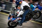 Red Bull Stunt Rider Aaron Colton.  (PRNewsFoto/Progressive International Motorcycle Show)